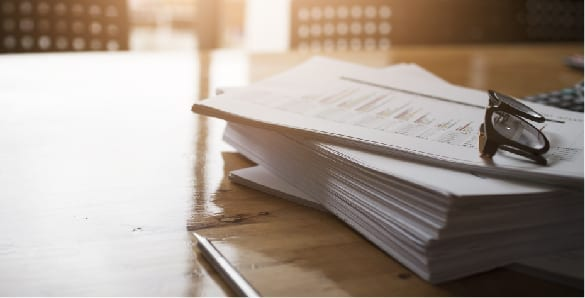 Irrevocable Funeral Trust Documents on Desk